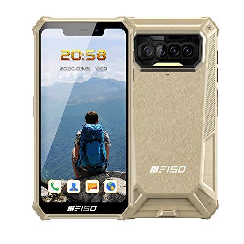 Rugged Smartphone IIIF150 B2021 IP68 in Offerta 8000mAh Batteria, 6GB RAM 64GB ROM, Android 10 4G Dual SIM Impermeabile Antiurto Telefono Robusto, 5,86 Pollici, Quad-Camera, NFC, 4 LED Flash - Giallo