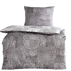 4tlg Baumwoll Silber Grau 2X