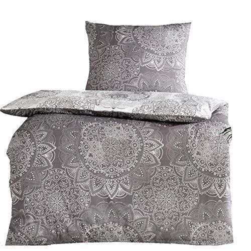 Bertels 4tlg Baumwoll Silber Grau 2X Bild