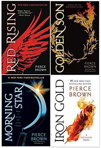 Red Rising Series Super Set Including Irong Gold, Moring Star, Golden Son, and Red Rising