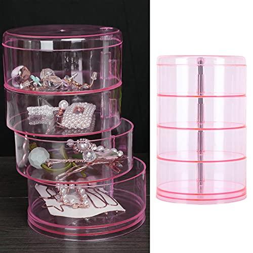 Eulbevoli Caja de los cosméticos, plástico rotatorio del ABS de la Caja del Tenedor de la joyería para la Mesa