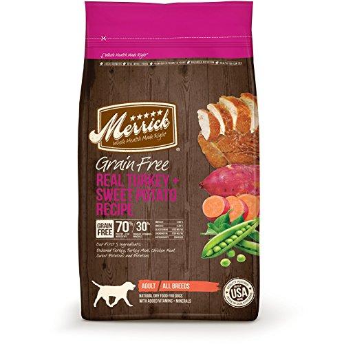 Merrick Grain Free Dry Dog Food Recipes, Turkey, 4 Pound