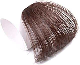J&S 100%人毛 総手植え ふんわり 空気感 シースルーバング 可愛い小顔になる 前髪ウィッグ 軽く 薄く エクステ つけ毛 耐熱 高温