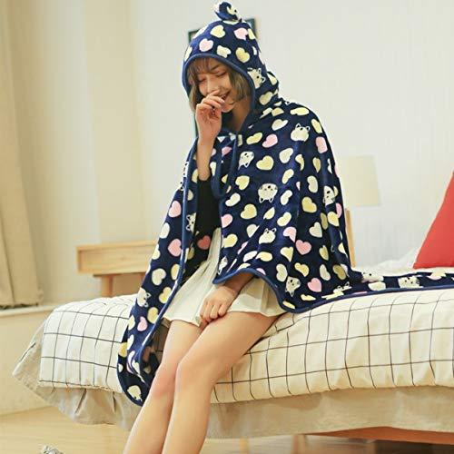 Batamanta Manta de Microfibra TV para Adulto Mujer Hombre Manta de Forro Polar Piel Lana Comfy Suave Esponjosa Oversized Grande para Cama Sofás, Azul (Color : C, Size : 110x160cm)