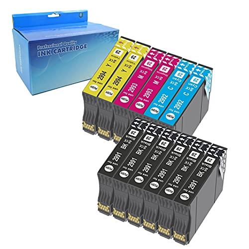 Teng 12X 29XL Cartuchos de Tinta para Epson 29 XL Compatible con Epson Expression Home XP-235 XP-245 XP-247 XP-255 XP-332 XP-335 XP-345 XP-352 XP-355 XP-432 XP-442 XP-445 XP-452 XP352