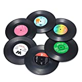 Record Coasters for Drinks, Funny, Absorbent,...