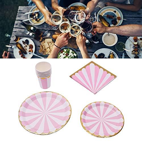 Vajilla, suministros de fiesta para niños, fiestas, bodas, fiestas de cumpleaños.(Plum pink)