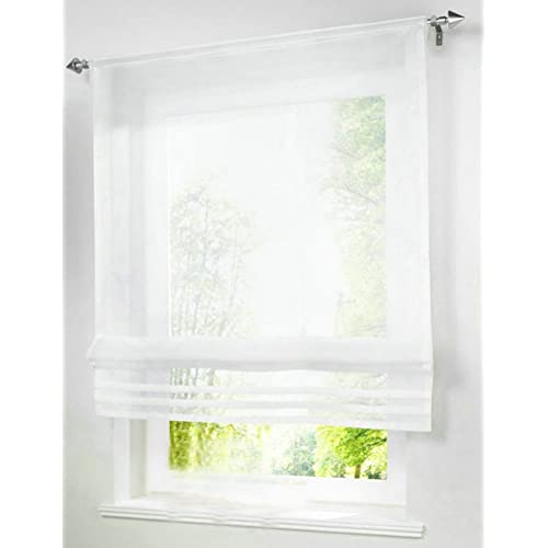Rod Pocket Roman Shades For Windows Amazon Com