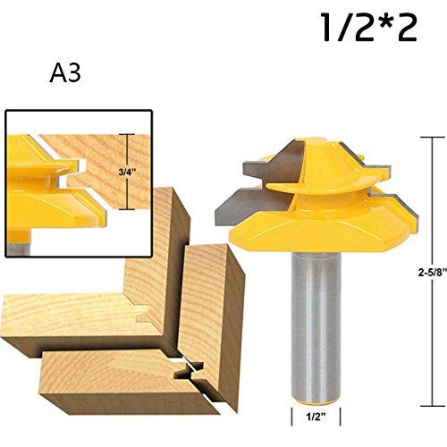 avec roulement C D 32 mm 8 mm ENT Fraise tongue et languette Carbure Queue Diam/ètre B 6,35 mm E 9,5/° A 41 mm