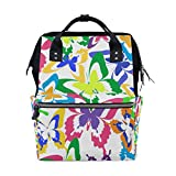 KIMDFACE バックパック カラフルなフライング美しい背景のシームレスなパターン 男女兼用 通学 通勤 旅行 スポーツ バッグ