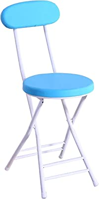 Chairs Chair, Dining Chair, Living Room, Bedroom Kitchen, Dorm, Fashion Folding Chair, Simple Portable Chair,Blue