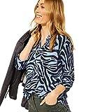 Cecil Damen 342513 Bluse, Quiet Blue, XXL