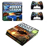 TSWEET Rocket League Ps4 Slim Stickers Playstation 4 Skin Sticker Calcomanías para Playstation 4 Ps4 Slim Console & Controller Skin Vinyl