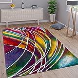 Paco Home Alfombra Moderna de Diseñador De Colores Mixtos Estampado Multicolor, tamaño:160x230 cm