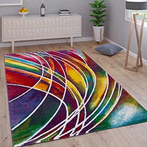 Paco Home Teppich Modern Designer Teppich Bunter Farbmix Gemustert Mehrfarbig, Grösse:200x290 cm