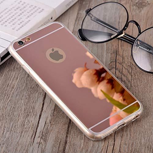 AAA&LIU Fundas de teléfono de Silicona TPU Suave para iPhone 4 4S 5 5S 5SE 6 6S 7 Plus Carcasa Trasera, Rosa, para iPhone 4 4S
