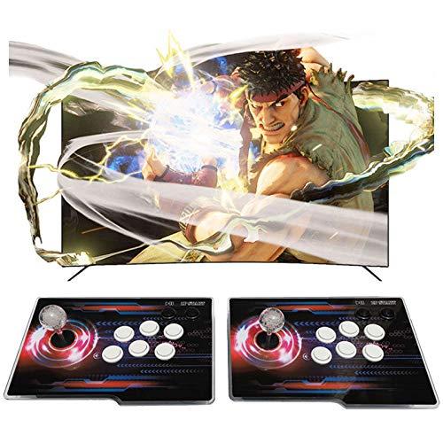TANCEQI Arcade Games Machines Pandora Box WiFi Joystick y Botones multijugador Arcade Console, 2 Joystick Partes de la Fuente de alimentación HDMI y VGA y Salida USB