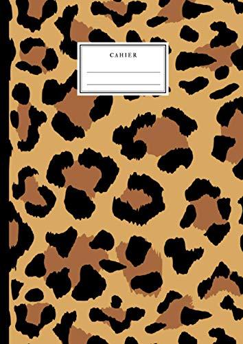 Cahier: Motif Léopard - Beau Cahier A4 21x29.7 Grand Carreaux Lignage Seyès - Jungle - Beau cahier pour enfants et adultes