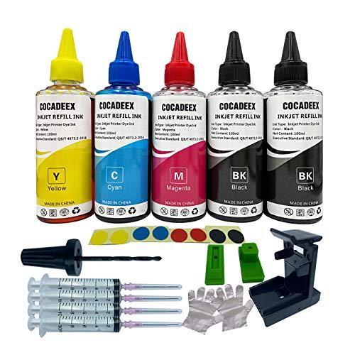 COCADEEX - Kit de recambio de tinta compatible con cartuchos de tinta HP 650xl 351XL 350XL 300XL 901XL 62XL 21XL 22XL 650 350 300 901 343 21 22