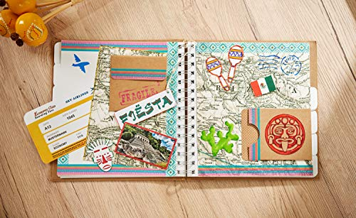 """VBS Mega-Set """"Vintage-Karten"""" Hochzeit Einladungskarten quadratisch aus braunem naturfarbenen Kraftpapier Kartengestaltung Etiketten Geschenkanhänger im Vintagestil basteln - 3"""