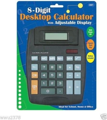 Bombing new Max 50% OFF work Wennow Large Jumbo Calculator 8 Solar Display Hard Keys Digits
