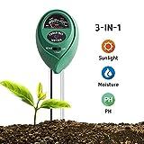 VIVOSUN Soil Tester, 3-in-1 Plant Moisture Meter Light and PH Tester for Home, Garden, Lawn, Farm,...