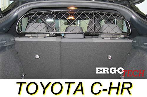 ERGOTECH Divisorio Griglia Rete Divisoria per Toyota C-HR, RDA65-XXS8, per Trasporto Cani e Bagagli