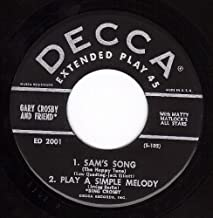 Sam's Song/Play A Simple Melody/When You And I Were Young Maggie Blues/Moonlight Bay (NM EP PS & 45 rpm)