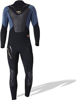 Staright Men 3mm Neoprene Full-Body Wetsuit with Back Zipper Diving Suit for Surfing Swimming Scuba Snorkeling