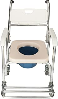 4 in 1 Bedside Commode Chair, Multifunctional Bath Chair Aluminum 300 Lb Capacity Heavy-Duty Toilet Chair Safety Frame Medical Commode for Elder