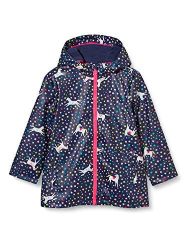 Joules Mädchen Raindance Regenmantel aus Gummi, Navy Einhorn, 2