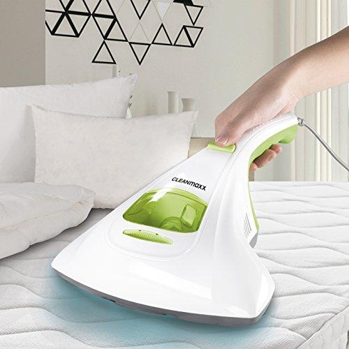 CLEANmaxx Milben-Handstaubsauger | Matratzenreiniger mit starker Saugkraft, Sterilisiert Oberflächen mit UV-C Licht | 300Watt [Vernichtet bis zu 99,9% aller Milben]