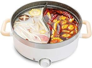 DYXYH Double face électrique Hot Pot avec Diviseur, Shaba Shabu non-adhérent, multi-fonction électrique Chauffage électriq...