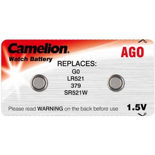 Camelion 2er-Set AG0 LR521 SR521W Knopfzelle 1,5V Batterie