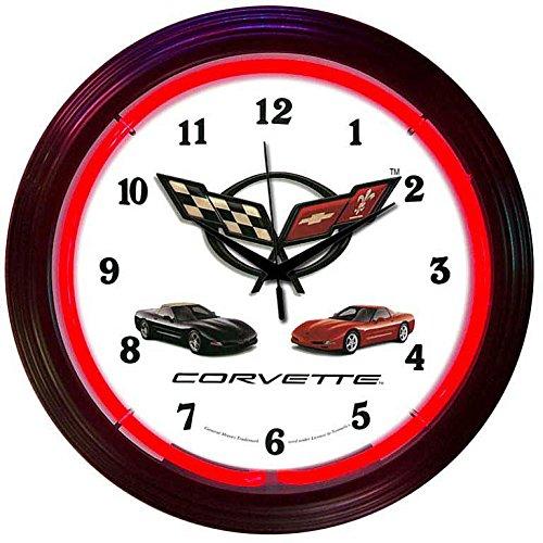 Corvette C5 Neon Clock 240V 3 PRONG UK by Chevrolet