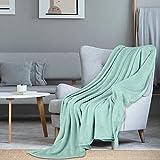 i@HOME Kuscheldecke Mintblau Decke Sofa Flauschig & Plüsch Decken Fleecedecke als Sofadecke Couchdecke Wohndecke Weiche und Warme Sofaüberwurf Decke Wohndecken Kuscheldecken 200x220 cm