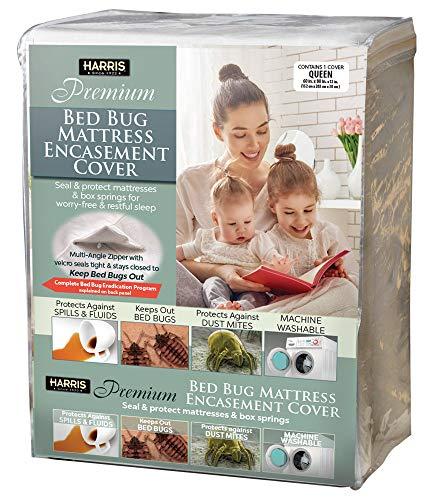 Harris New Premium Bed Bug Mattress Encasement Protector Cover, Waterproof - Queen Size
