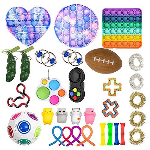 KAKAPI Sensory Fidget Toys Set, Juguetes para aliviar el estrés de la mano para adultos