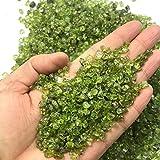 NLLeZ 100 g 2-4mm Piedra Natural Perido Cuarzo Olivine Green Crystal Mineral Espécimen Chip DE Roca...