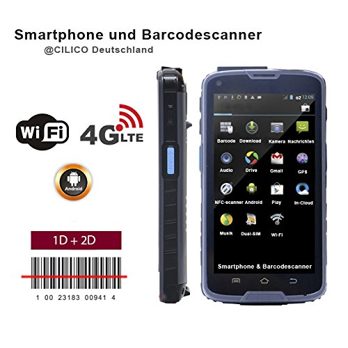 Original cilico Android Bar Code Scanner 1D + 2D NFC RFID, double SIM (LTE 4G), appareil photo, adaptable z.b Orgamax