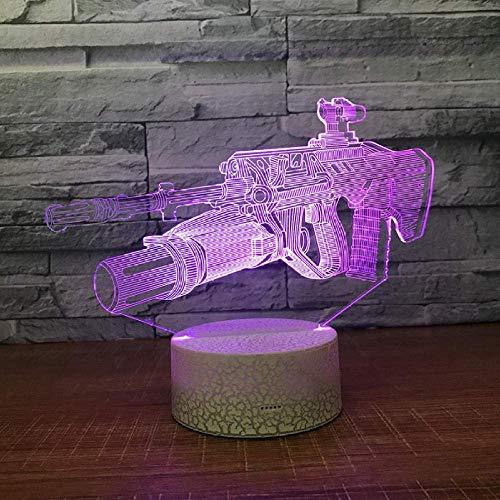 Freighter Gun 3D Light Kreatives 3D Nachtlicht Acryl Visual Stereo Geschenk 3D Leuchte 7 Farbwechsel Nachtlicht