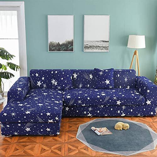 WXQY Funda de sofá nórdica, Funda de sofá de algodón, Funda de sofá Flexible para Sala de Estar, Adecuada para sofá Chaise Longue en Forma de L A17 de 1 Plaza
