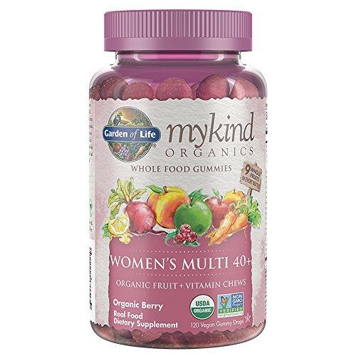 Garden of Life mykind Organics Women 40+ Gummy Vitamins Multi Berry, Multi, Organic Berry, 120 Count (Pack of 1)