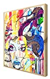 CCRETROILUMINADOS Street Art Cuadro con Marco de Madera Retroiluminado, Metacrilato, Multicolor, 80 x 60