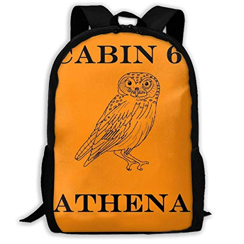 XCNGG Camp Halfblood - Athena Cabin School Bag Teenager Casual Sports Backpack Men Women Student Travel Hiking Laptop Backpack