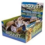 Arquivet - Expositor 20 Unidades Pezuña de Ternera rellena de Carne - Snacks Naturales para Perros - Chuches para Perros - Golosinas para Perros - Premios y recompensas para Perros