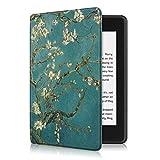 Eono by Amazon SlimShell Funda para Kindle Paperwhite 4 (10.ª generación, 2018) - Carcasa Fina y Ligera de Cuero Sintético con Auto-Sueño/Estela, Apricot