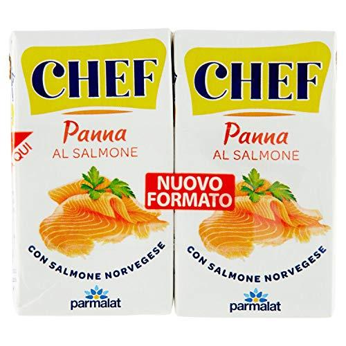 Parmalat Panna Sahne chef al salmone per cucinare Kochcreme creme mit Lachs 2x 125g