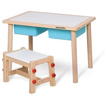 Table Et Chaise Pour Enfants Bureau D Etude Pour Enfant De La Maternelle Table De Jeu Pour Bebe Avec Boite De Rangement Une Table Et Une Chaise Amazon Fr Cuisine Maison