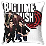 Anime & Big Time Rush Logo and Members Classic Pillowcases, Floor Pillowcases, Pillowcases, Sofa Cushions, Cushion Covers, Backrest Covers, Car Cushion Interiors